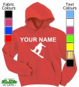 Personalised Snowboarder Red