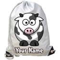Personalised Cow Gym Bag