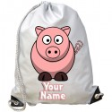 Personalised Pig Gym Bag