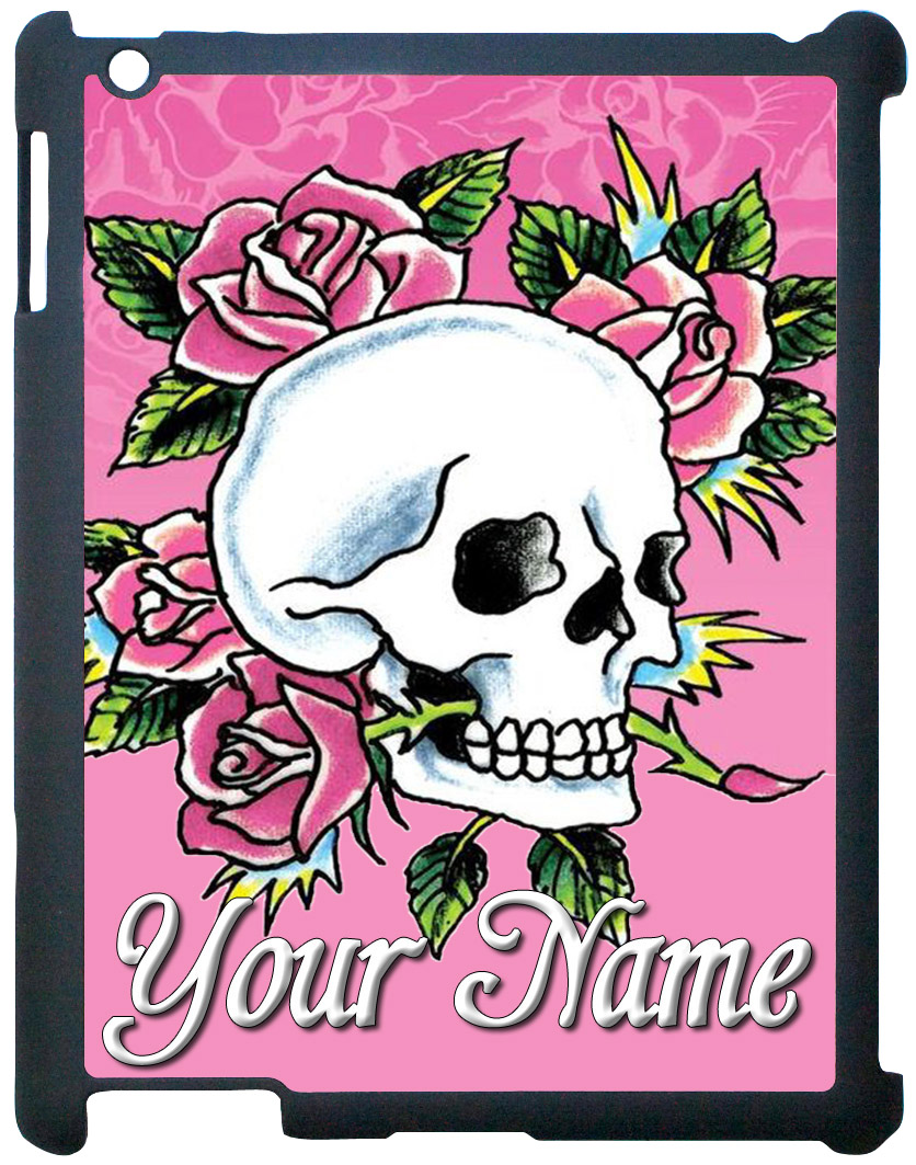 Flowers & Skull iPad Case