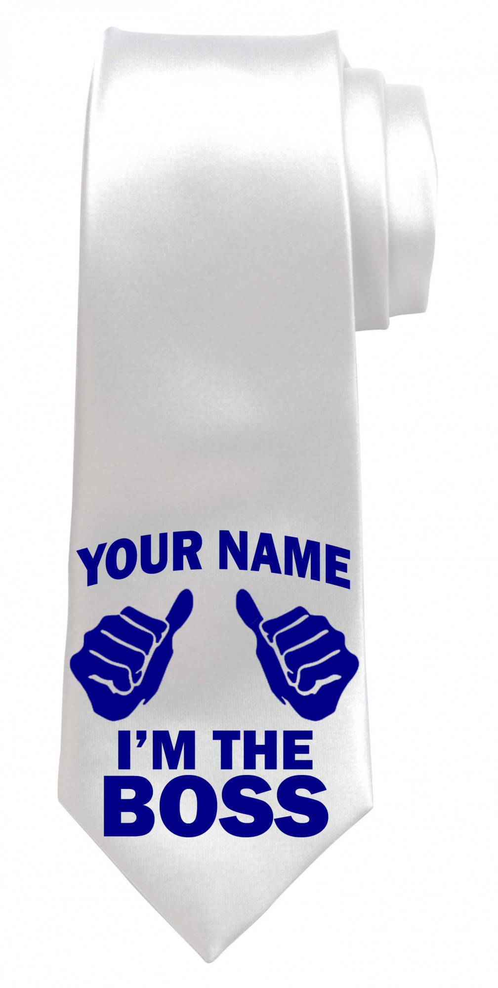 Personalised I'm The Boss Necktie