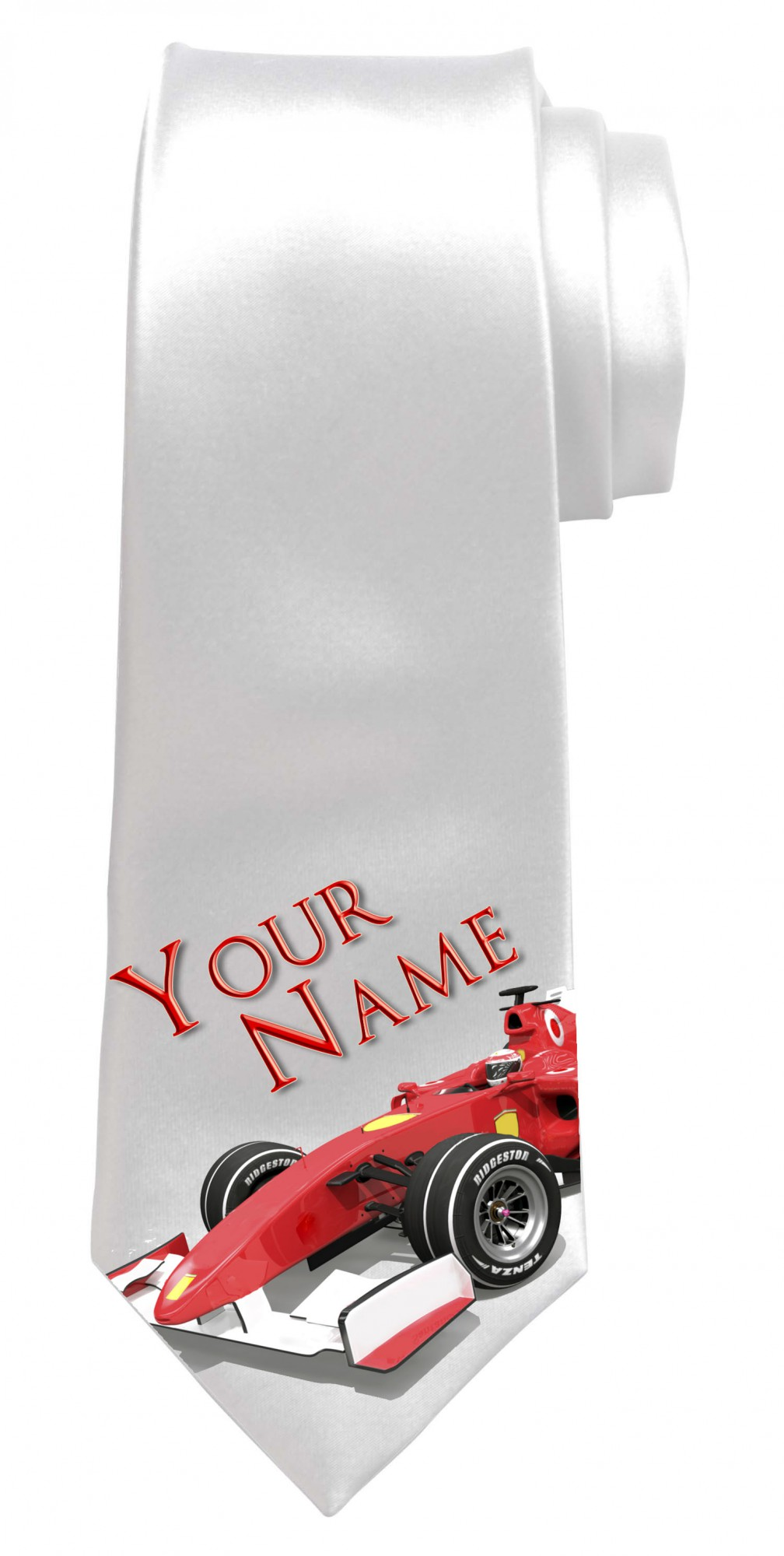 Personalised F1 / Formula One Necktie