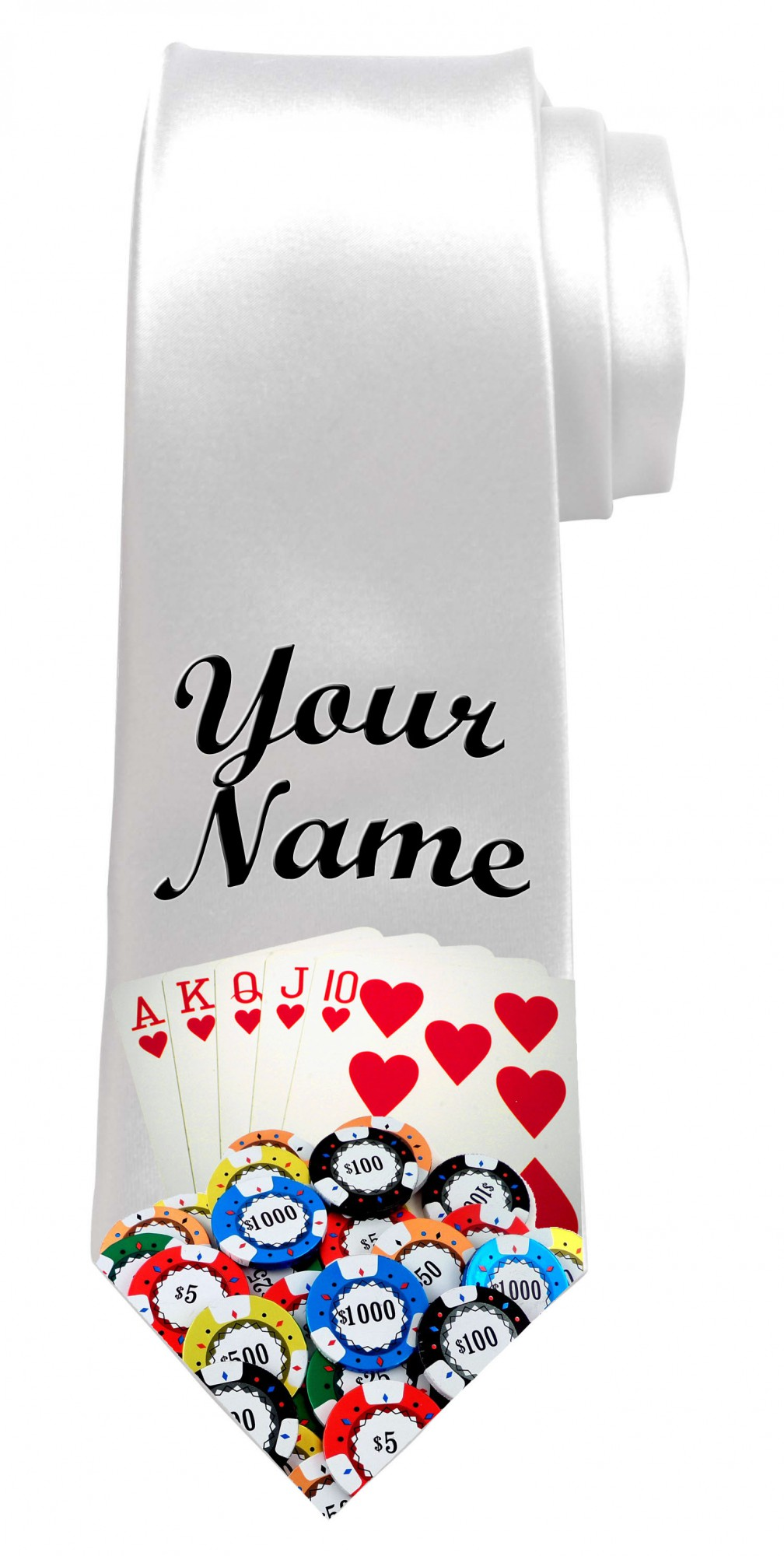 Personalised Poker / Cards Necktie