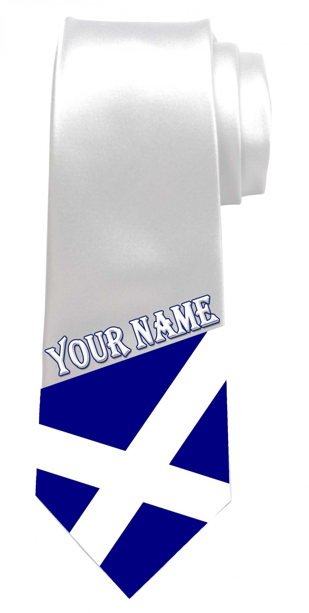 Personalised Scottish Flag / Saltire Necktie