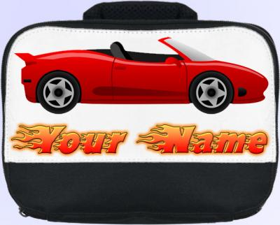 Personalized Sports Car Lunch Bag