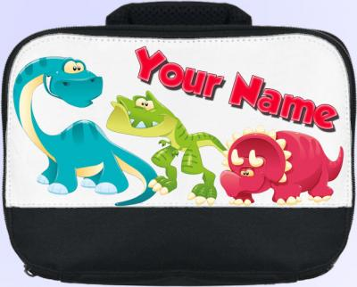 Personalized Cartoon Dinosaurs Lunch Bag