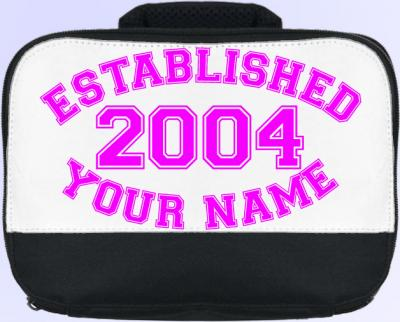 Personalized Established�. (Pink) Lunch Bag