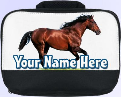 Personalized Brown Horse Lunch Bag