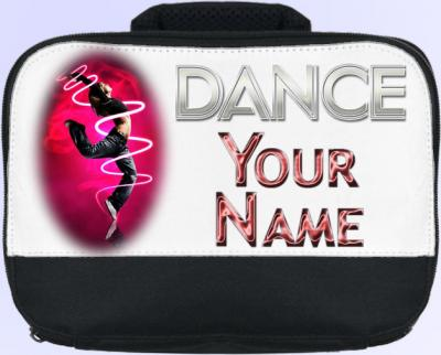 Personalized Red Dance Lunch Bag