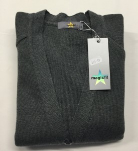 Magic Fit Knitted Grey Cardigan