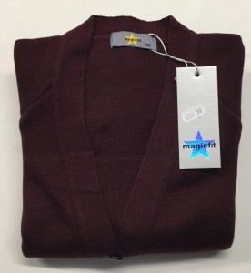 Magic Fit Knitted Burg Cardigan