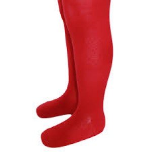 Girls Red Knitted Tights