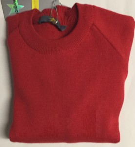 Magic Fit Knitted Red Crew Jumper