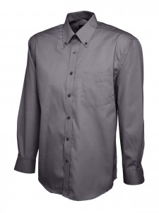 Mens Oxford Full Sleeve Shirt Charcoal