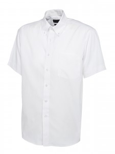 Mens Oxford Short Sleeve Shirt White