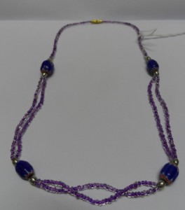 Purple bead necklace