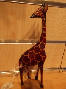 Giraffe - wooden, small