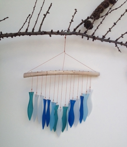 Glass Fish Windchime 'Blue'