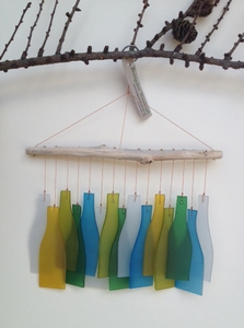 Glass Bottles Windchime