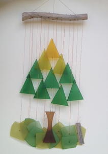 Glass Tree Windchime