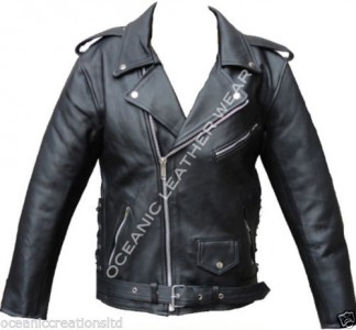 5a9b4d7eaaa10c Black Armoured Motorcycle Motorbike Marlon Brando Retro Cruiser Leather  Jacket