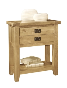 Vancouver Solid Oak Console Table Oak Dining And Living Aberdare