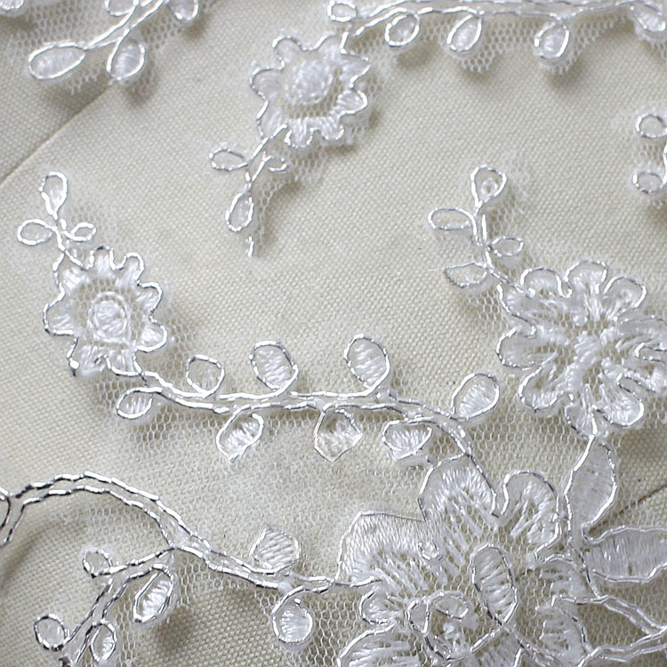 SAP1126 Lace Applique Wedding Sew on Applique Floral Embroidery Motif