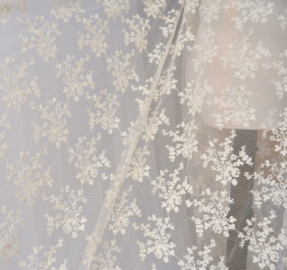 SFB1003 Ivory Embroidery Cotton Lace Fabric 47