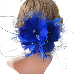 RB090 Feather Flower DIY Millinery Hat Wedding Feather Fascinators Handcraft Headress