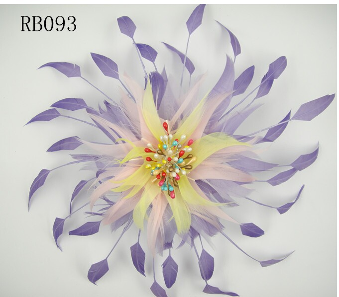 RB093 Feather Flower DIY Millinery Hat Wedding Feather Fascinators Handcraft Headress