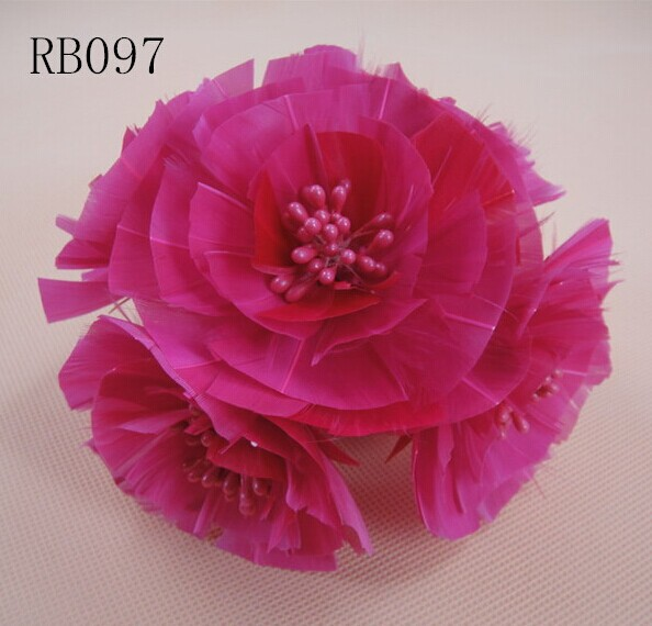 RB097 Feather Flower DIY Millinery Hat Wedding Feather Fascinators Handcraft Headress