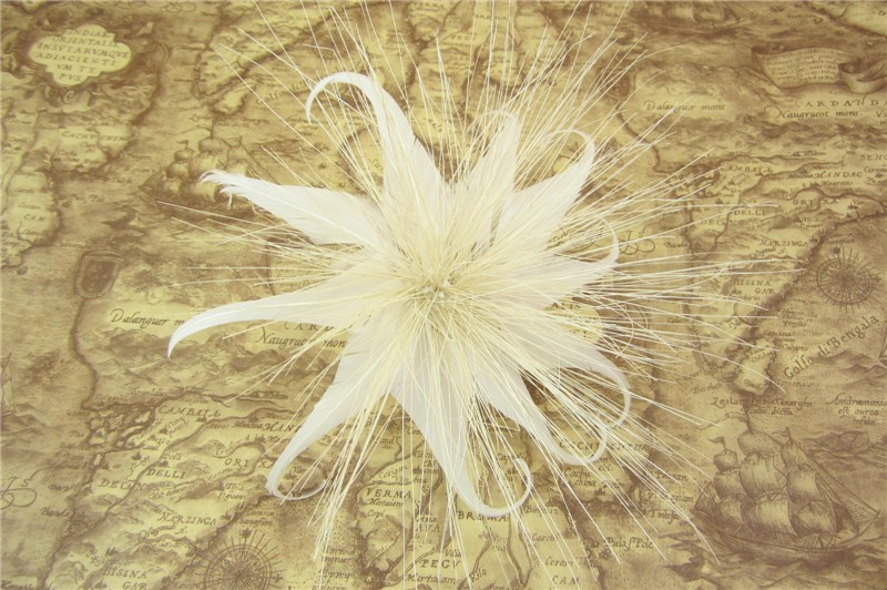 RB101 Feather Flower DIY Millinery Hat Wedding Feather Fascinators Handcraft Headress