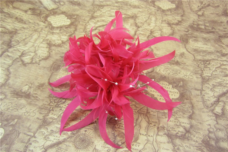 RB102 Feather Flower DIY Millinery Hat Wedding Feather Fascinators Handcraft Headress