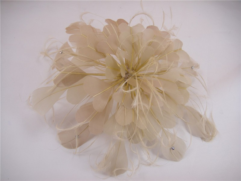 RB103 Feather Flower DIY Millinery Hat Wedding Feather Fascinators Handcraft Headress