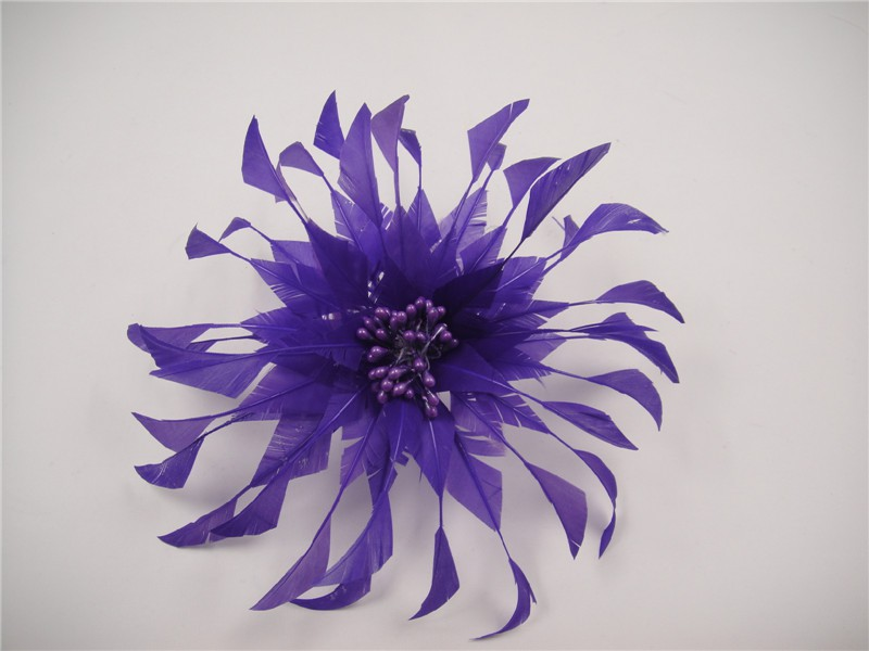 RB104 Feather Flower DIY Millinery Hat Wedding Feather Fascinators Handcraft Headress