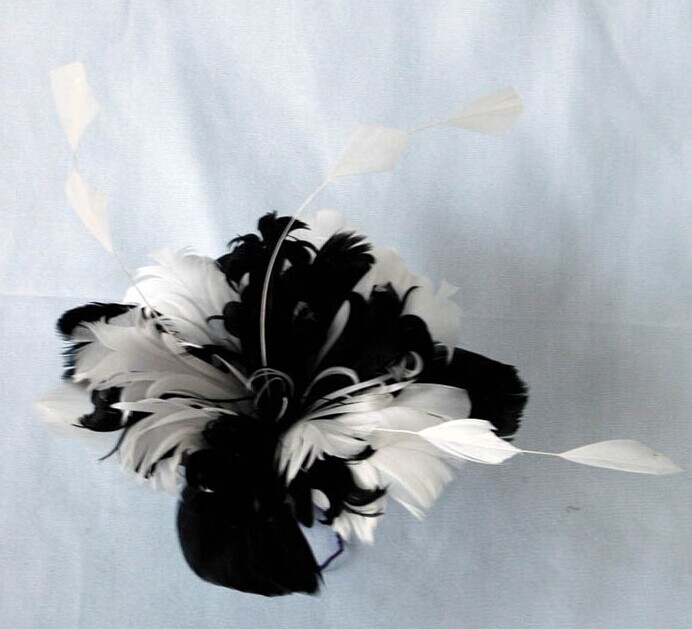 RB009 Feather Flower DIY Millinery Hat Wedding Feather Fascinators Handcraft Headress