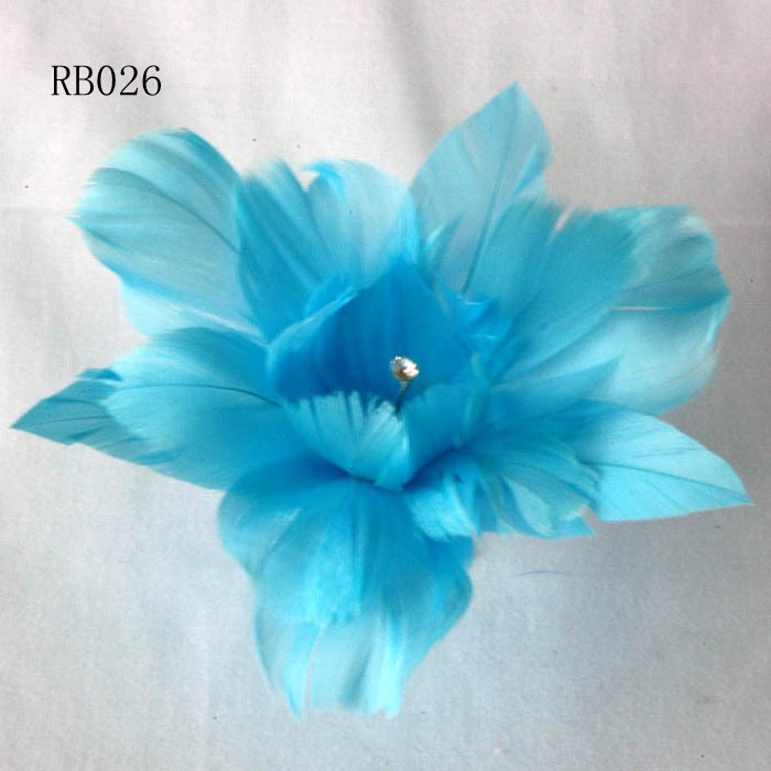 RB026 Feather Flower DIY Millinery Hat Wedding Feather Fascinators Handcraft Headress