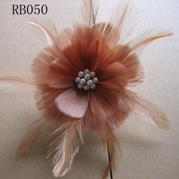 RB050 Feather Flower DIY Millinery Hat Wedding Feather Fascinators Handcraft Headress