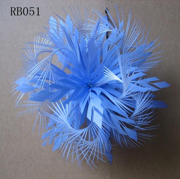 RB051 Feather Flower DIY Millinery Hat Wedding Feather Fascinators Handcraft Headress