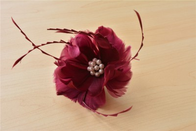 RB052 Feather Flower DIY Millinery Hat Wedding Feather Fascinators Handcraft Headress