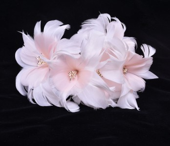RM1703 Feather Mount Flower DIY Millinery Hat Fascinator Headress