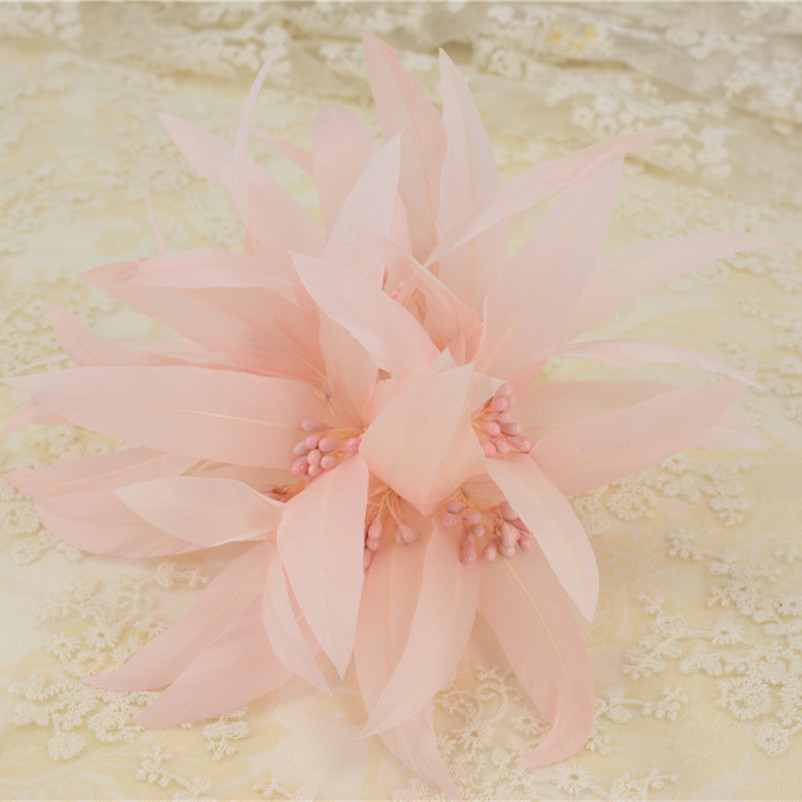 RB109 Feather Flower DIY Millinery Hat Wedding Feather Fascinators Handcraft Headress