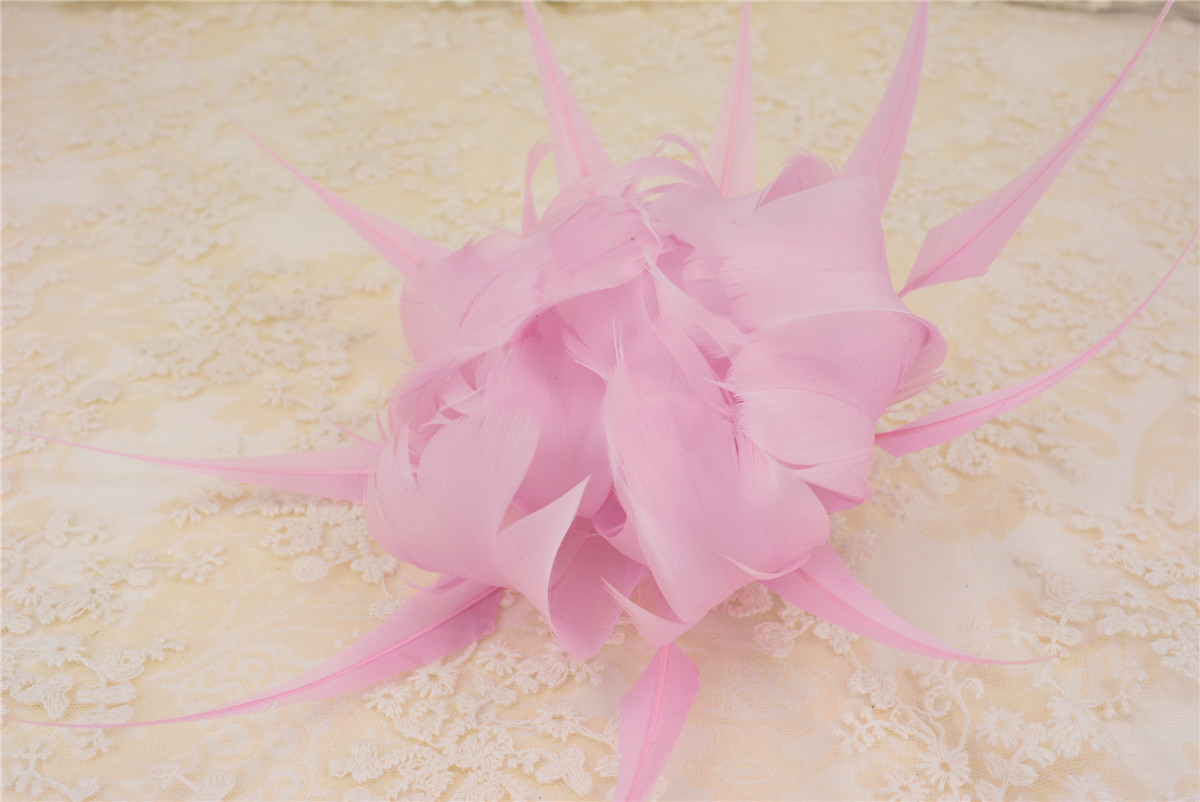 RB110 Feather Flower DIY Millinery Hat Wedding Feather Fascinators Handcraft Headress