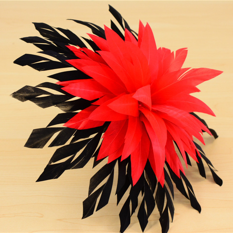 RB112 Feather Flower DIY Millinery Hat Wedding Feather Fascinators Handcraft Headress