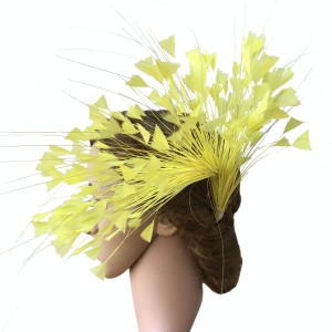 RM611 Feather Mount Flower DIY Millinery Hat Wedding Feather Fascinators Handcraft Headress