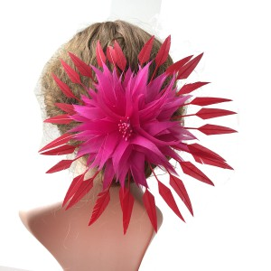 RB115 Handcraft Feather Flower Millinery Spitting Fascinators Feathers Derby Ascot Hat Making
