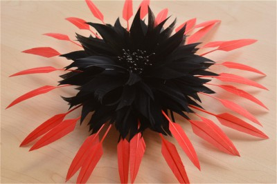 RB115A Handcraft Feather Flower Millinery Spitting Fascinators Feathers Derby Ascot Hat Making