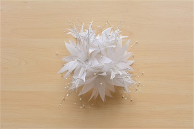 RB118 Handcraft Feather Flower Millinery Spitting Fascinators Feathers Derby Ascot Hat Making with Pearl