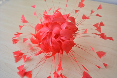 RB121 Handcraft Feather Flower Millinery Spitting Fascinators Feathers Derby Ascot Hat Making