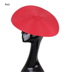 HBM007 Large Straw Button Fascinator Hat Base for Millinery & Hat Making 13.8